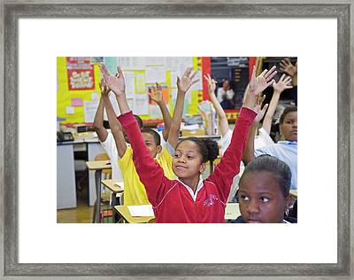 Primary School Lesson Framed Print by Jim West