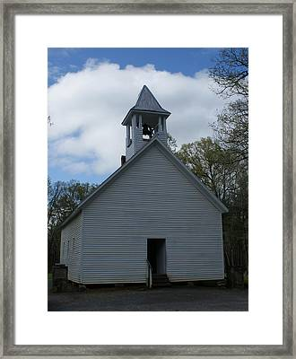 Primative Baptist Church In Cades Cove Framed Print by Roger Potts