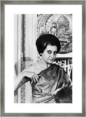 Prime Minister Indira Gandhi Framed Print by Warren Leffler