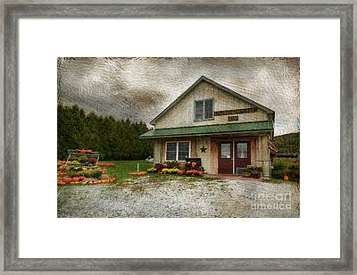 Primitive Country Barn Framed Print by Deborah Benoit