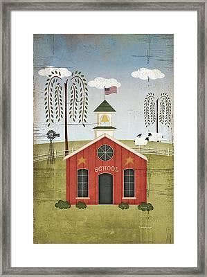 Primitive School Framed Print by Jennifer Pugh