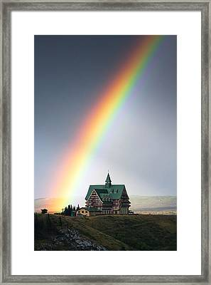 Prince Of Wales Rainbow Framed Print by Mark Kiver