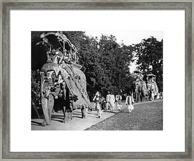 Prince Of Wales Visit Framed Print by Underwood Archives