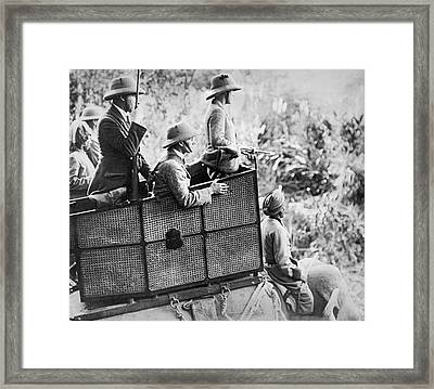 Prince On A Hunting Expedition Framed Print by Underwood Archives