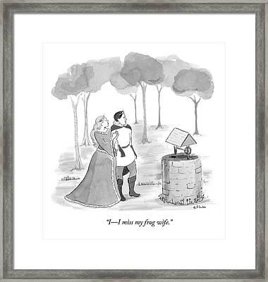 Prince Speaks To Princess Framed Print by Emily Flake