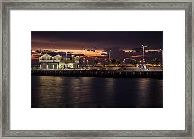 Princes Pier Gateway Framed Print by Shari Mattox