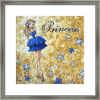 Princess By Madart Framed Print by Megan Duncanson