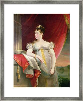 Princess Charlotte 1796-1817 Before 1817 Oil On Canvas Framed Print by James Lonsdale