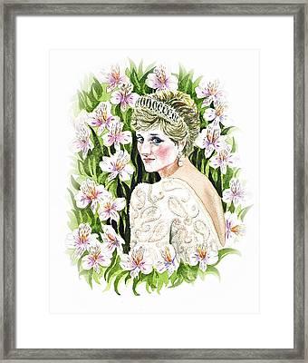 Princess Diana Framed Print by Irina Sztukowski