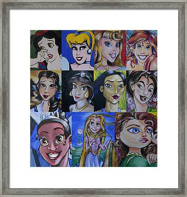 Princess-fine Art Mash-up Framed Print by Lisa Leeman