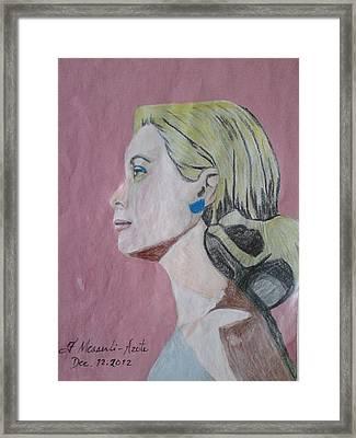 Princess Grace  Framed Print by Fladelita Messerli-