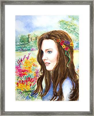 Princess Kate Framed Print by Patricia Allingham Carlson