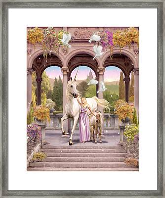 Princess Of The Unicorns Variant 1 Framed Print by Garry Walton