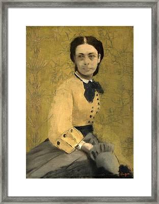 Princess Pauline De Metternich Framed Print by Edgar Degas