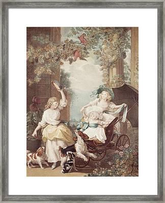 Princesses Mary Sophia And Amelia Daughters Of George IIi Framed Print by John Singleton Copley