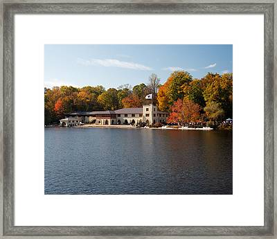 Princeton Crew Boathouse Princeton New Jersey Framed Print by George Oze