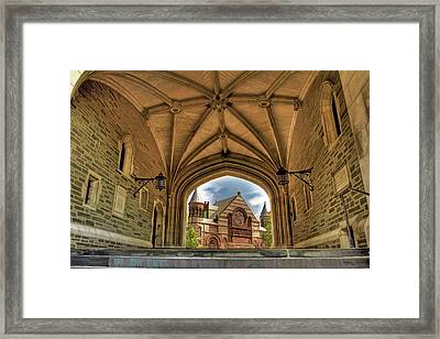 Princeton University College Framed  Framed Print by Geraldine Scull