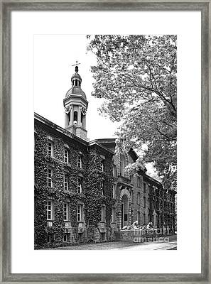 Princeton University Nassau Hall Framed Print by University Icons