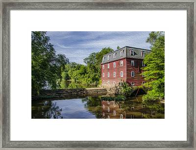 Princeton's Kingston Mill Framed Print by Bill Cannon