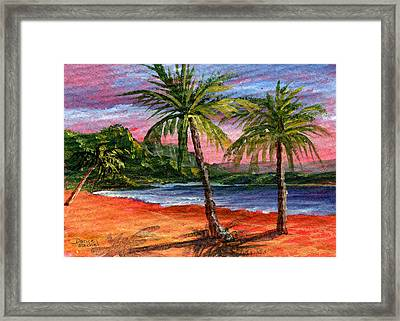Princeville Kauai Framed Print by Darice Machel McGuire