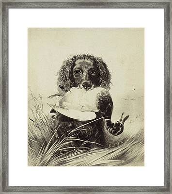 Print Of A Painting By Richard Ansdell, Anonymous Framed Print by Artokoloro