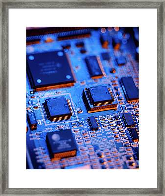 Printed Circuit Board Framed Print by Mark Sykes