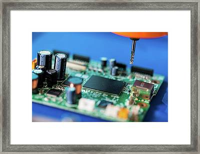 Printed Circuit Board Processing Framed Print by Wladimir Bulgar