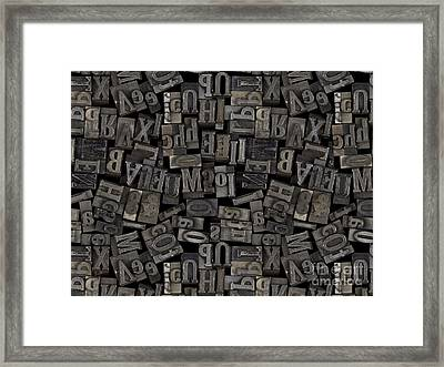 Printing Letters 2 Framed Print by Bedros Awak
