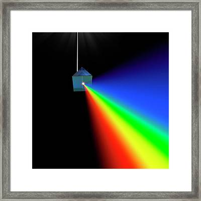 Prism And Spectrum Abstract Framed Print by David Parker