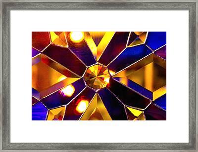 Prism Glass Spectrum Framed Print by Karon Melillo DeVega