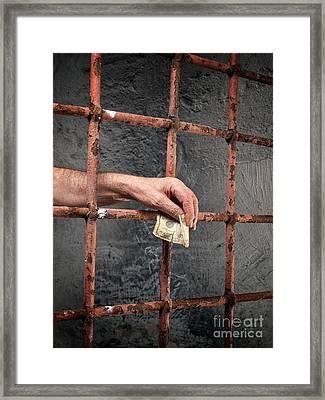 Prison Corruption Framed Print by Sinisa Botas