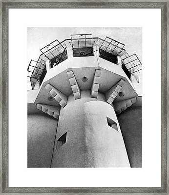 Prison Guard Tower Framed Print by Underwood Archives