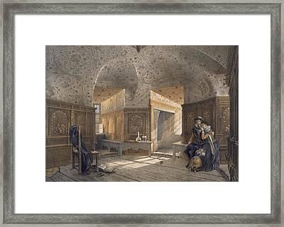 Prison Of King Erik Xiv, Son Of Gustav Framed Print by Karl Johann Billmark