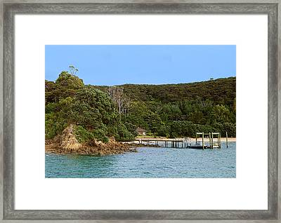 Private Pier Framed Print by Linda Phelps