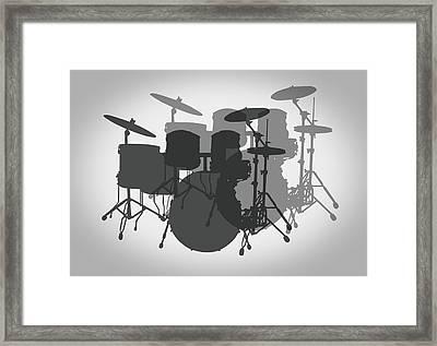 Pro Drum Set Framed Print by Daniel Hagerman