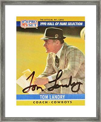 Pro Football Coach Tom Landry Framed Print by Donna Wilson