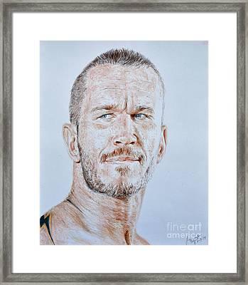 Pro Wrestling Legend Randy Orton Framed Print by Jim Fitzpatrick
