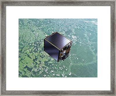 Proba-v Satellite Framed Print by Esa-p.carril