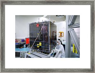 Proba-v Satellite Testing Framed Print by Esa - Stephane Corvaja