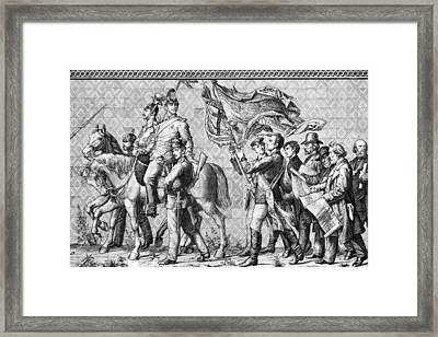 Procession Of Princes - Dresden Germany Framed Print by Christine Till