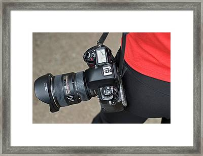 Professional Photographer Framed Print by Jim West
