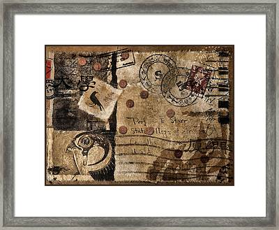 Professor Starr Framed Print by Carol Leigh