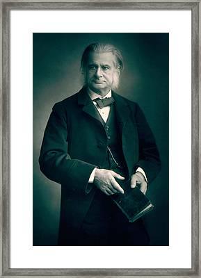 Professor Thomas H Huxley Framed Print by Stanislaus Walery