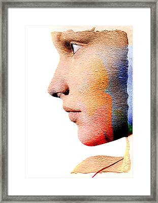 Profile Of A Woman Framed Print by David Ridley