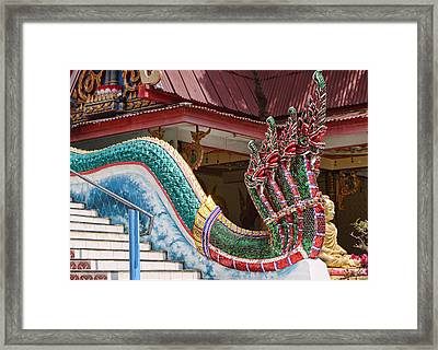 Profile Of Dragon Descending The Stairs Framed Print by Linda Phelps