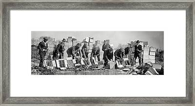 Prohibition Feds Destroy Liquor  1923 Framed Print by Daniel Hagerman