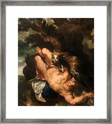 Prometheus Bound Framed Print by Peter Paul Rubens