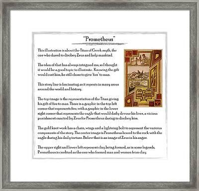 Prometheus Story Framed Print by Michael Lee
