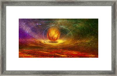 Prophet Of Light Framed Print by manhART
