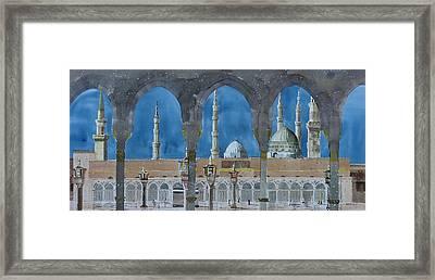 Prophet's Mosque Medina Framed Print by Martin Giesen